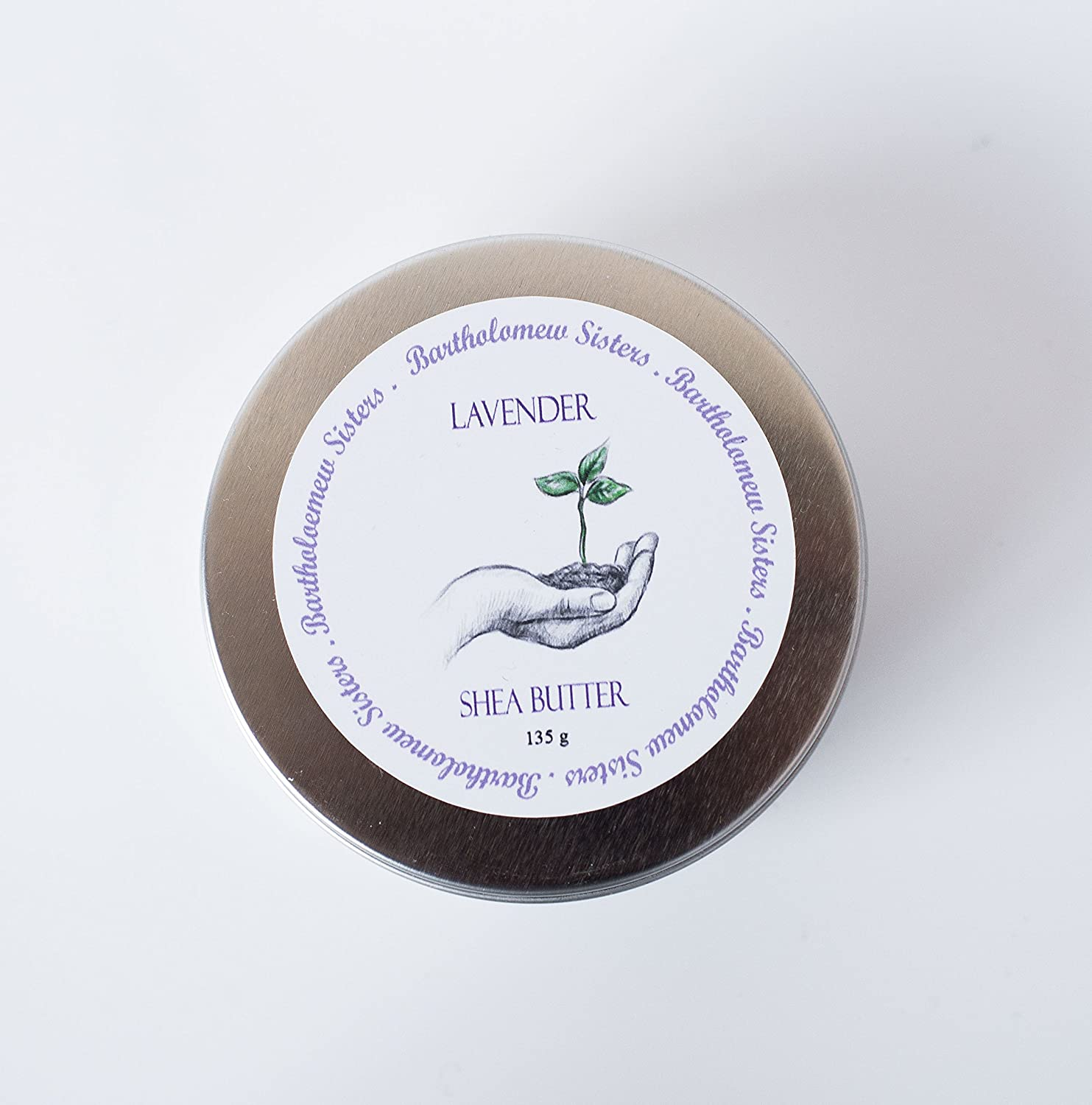 Handmade Natural Lavender Shea Butter Vegan Body Butter, 4 oz