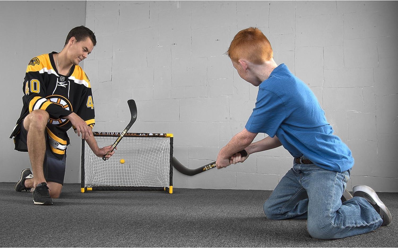 Franklin Sports Tuukka Rask Tuukka Rask Mini Hockey Knee Hockey Goal, Mini Stick, Target & Ball Set - NHL Official Licensed Product : Sports & Outdoors