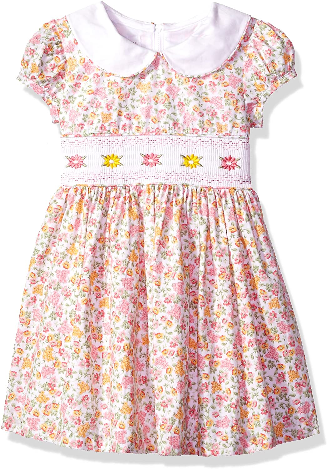 1940s Children's Clothing: Girls, Boys, Baby, Toddler Bonnie Jean Girls Collared Cotton Dress $31.59 AT vintagedancer.com