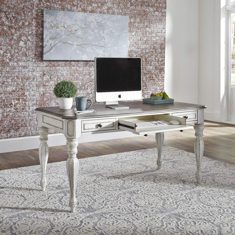 Liberty Furniture Industries Magnolia Manor Writing Desk, White