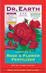 Organic 3 Rose and Flower Fertilizer Size: 12 Pounds