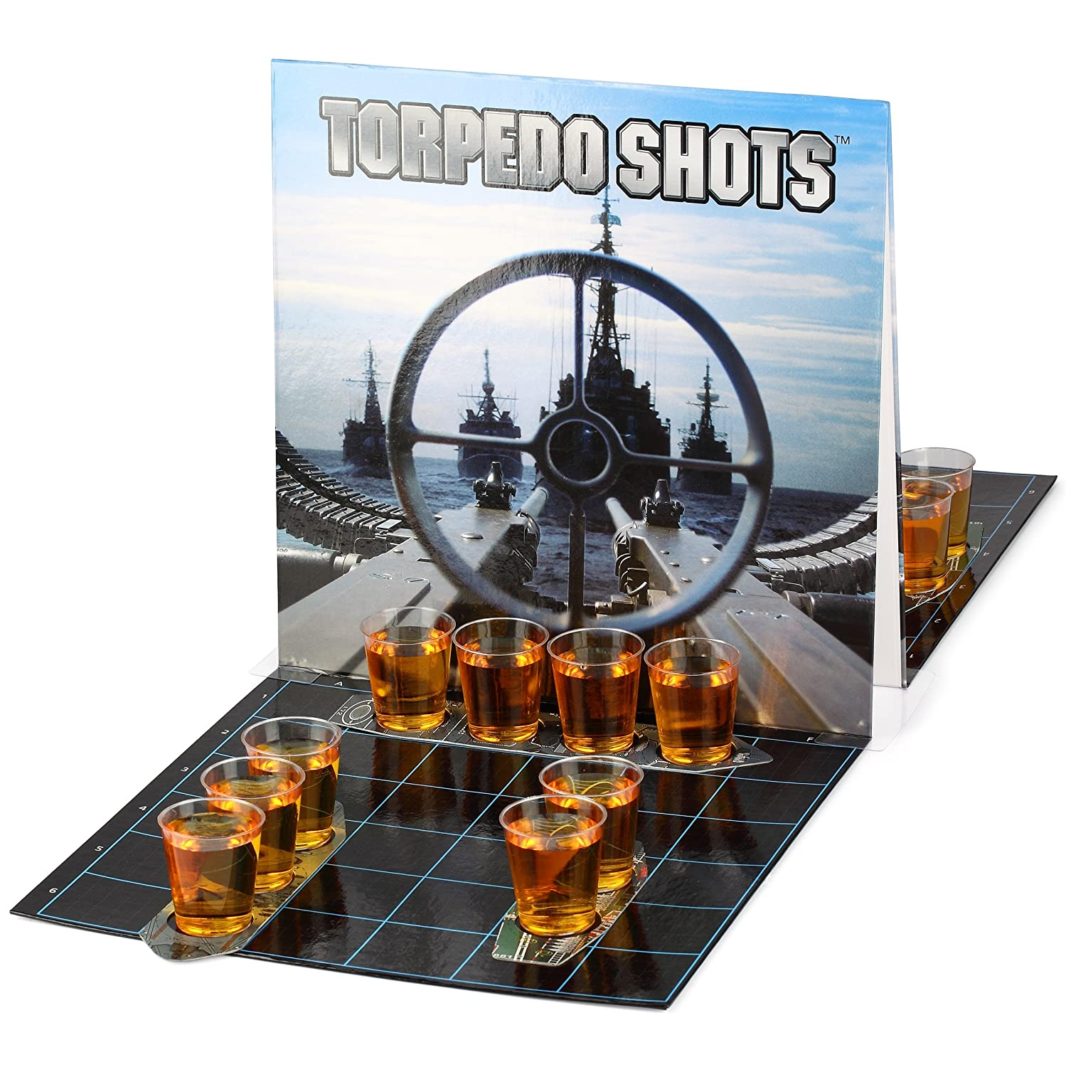Barbuzzo Torpedo Shots - Ultimate Party Drinking Game - Battleships Shots Drinking Game - Enjoy Your Favorite Liquor and Let the Games Begin - Fun Alcohol Infused Party Games UTU3BR0088