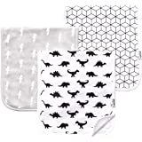 """Baby Burp Cloth Large 21''x10'' Size Premium Absorbent Triple Layer 3 Pack Gift Set For Boys """"Wild Set"""" by Copper Pearl"""