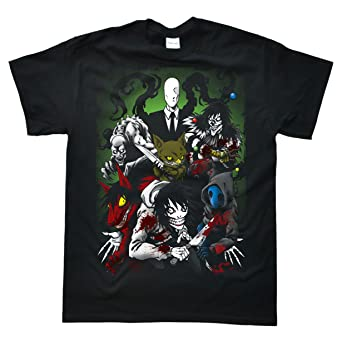 8233adab88180 Amazon.com  Stooble Men s Creepypasta Family T-Shirt  Clothing