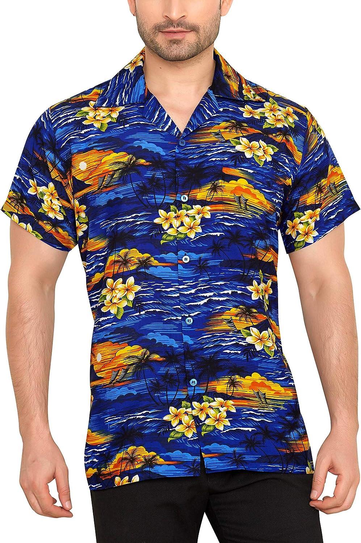 CLUB CUBANA Camisa Hawaiana Florar Casual Manga Corta Ajuste Regular para Hombre: Amazon.es: Ropa y accesorios