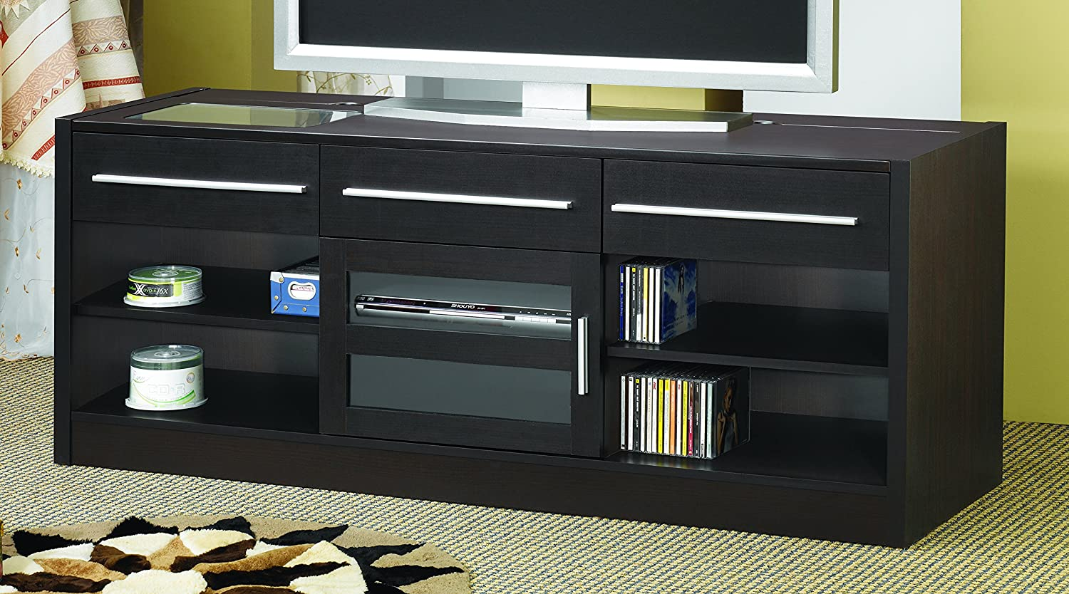 Coaster Home Furnishings Connect-it TV Console with Power Drawer-RTA Cappuccino