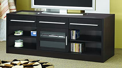 Dark Wood Tv Credenza : Amazon coaster home furnishings connect it tv console with