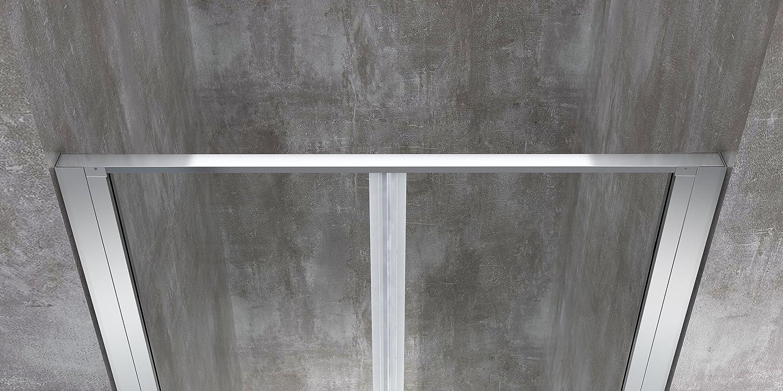 Mampara de ducha para hueco, puerta con apertura de vaivén 70, 75, 80, 85, 90, 100, 110, 120 - perfil de cromo pateado, cristal templado transparente de 6 mm, fácil de limpiar, antical: Amazon.es: Bricolaje y herramientas