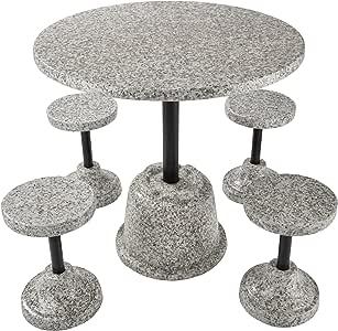 TecTake Conjunto de Muebles de jardín Apariencia de Piedra | 4 ...