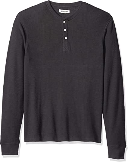 Brand Goodthreads Mens Long-Sleeve Slub Thermal Henley