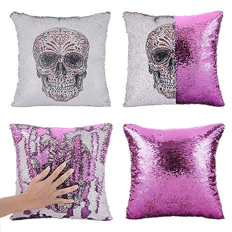 Amazon.com: Xiaowli - Funda de almohada de lentejuelas con ...