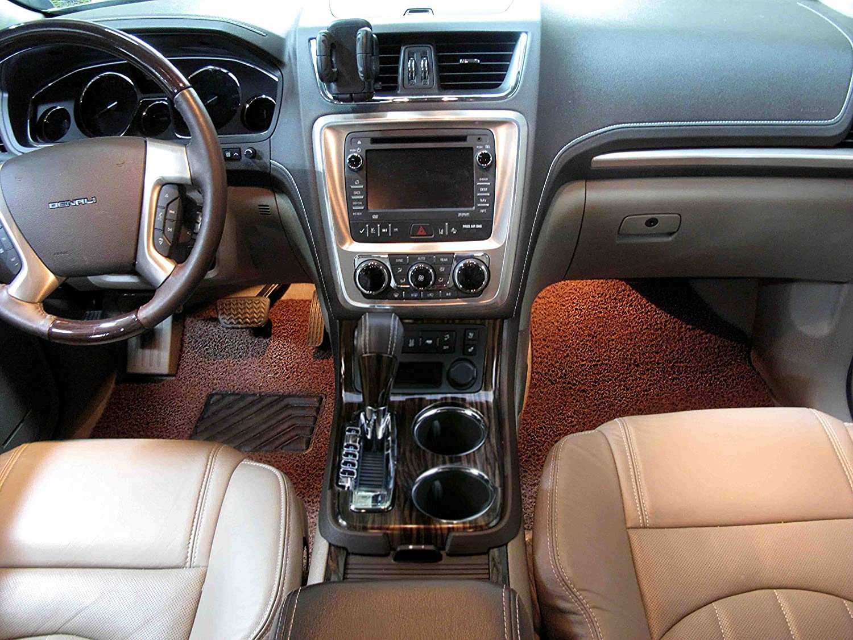 Black /& Red Broadfeet Custom Floor Liners for 2014-2016 Jaguar F-Type All Weather Custom Carpet 2 Pieces
