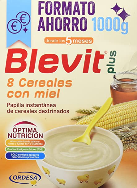 BLEVIT Plus 8 Cereales Con Miel 1000G