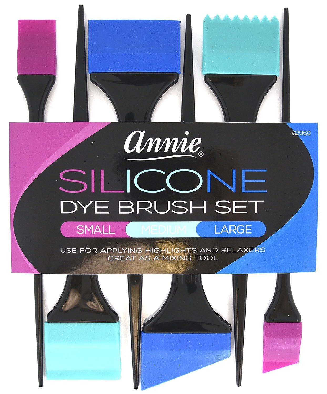 Annie Silicone Dye Brush Set Medium #2962 : Beauty