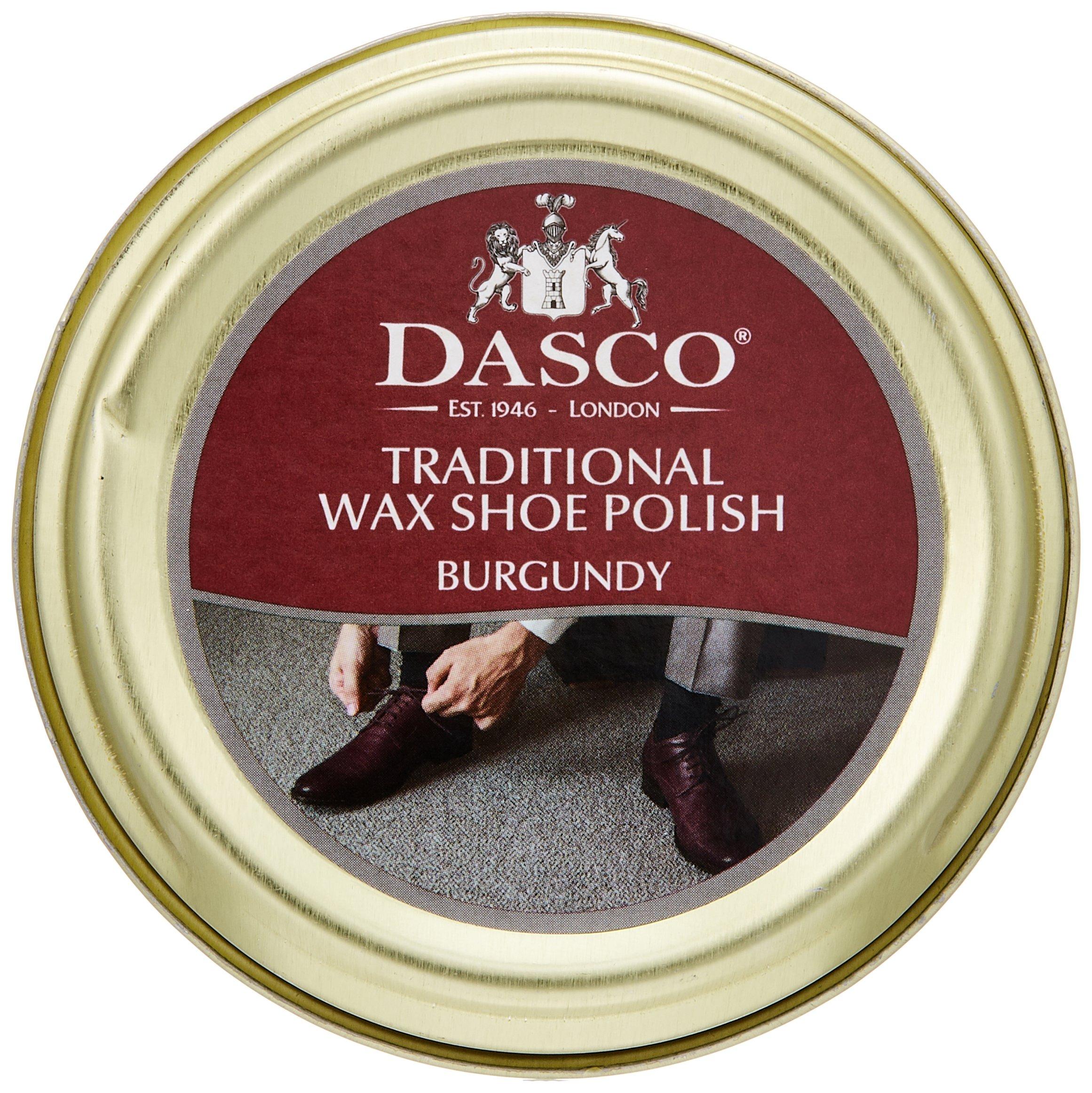 Dasco Traditional Wax Shoe Polish, 50ml tin (Burgundy)