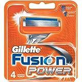 Gillette Fusion - Power - Lames de Rasoir pour Homme - Pack de 4