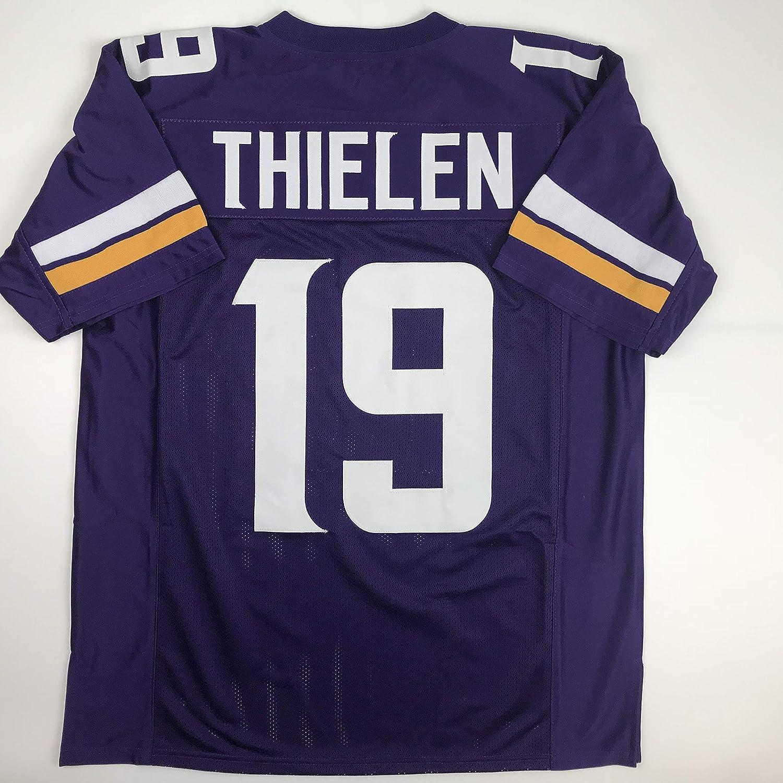 Unsigned Adam Thielen Minnesota Purple