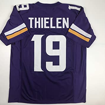online store 2ccf9 411b5 Unsigned Adam Thielen Minnesota Purple Custom Stitched Football Jersey Size  Men's XL New No Brands/Logos