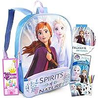 "Frozen Backpack Travel Bag for Girls Toddlers Kids Bundle ~ Premium 16"" Frozen School Bag Travel Set with Frozen…"