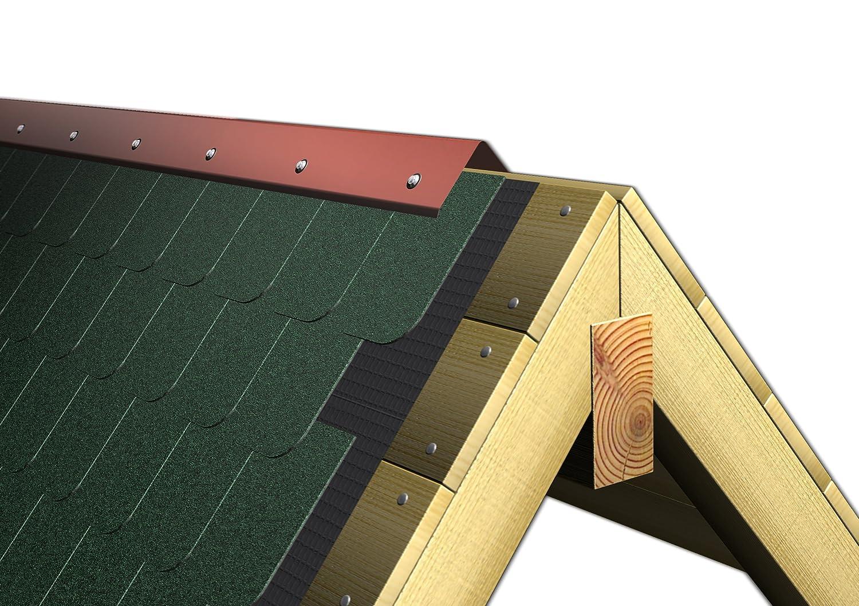 lunghezza 200 cm INEFA lamiera colmo materiale in alluminio tetto colmo profilo