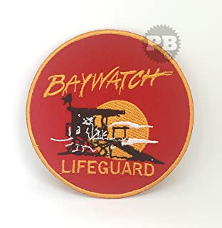 8ff7facaa9eb REAL EMPIRE BAYWATCH Lifeguard Logo Iron-On Embroidered Patch ...