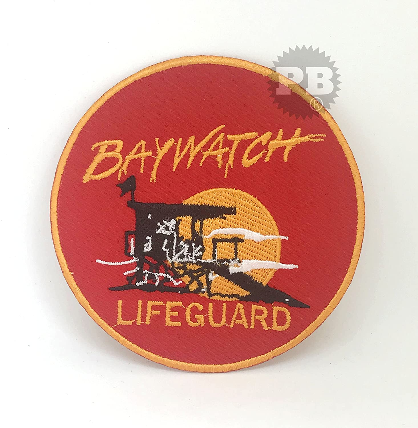 BAYWATCH Swimsuit Lifeguard Logo Iron-On Embroidered Patch Embrologos
