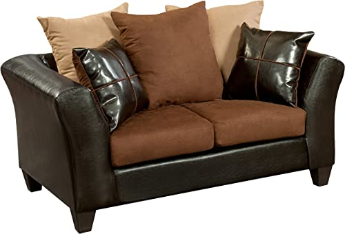 Flash Furniture Riverstone Sierra Chocolate Microfiber Loveseat