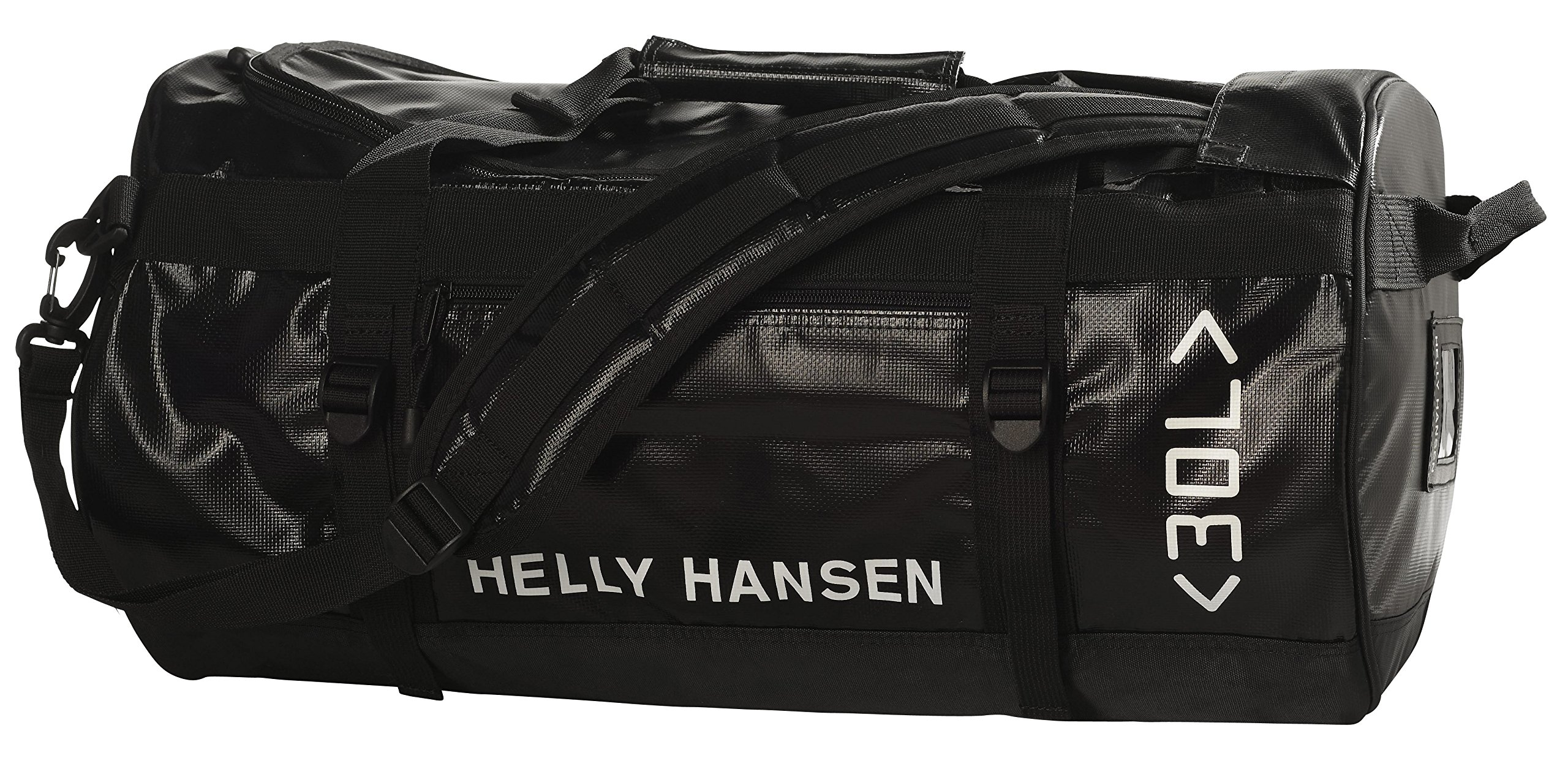 Helly Hansen Classic Duffel Bag with Backpack Straps, 990 Black, 30-Liter (Small)