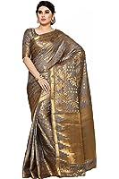 Mimosa Women's Art Silk Saree (4108-292-Sd-Grey_Taupe Grey _Free Size)