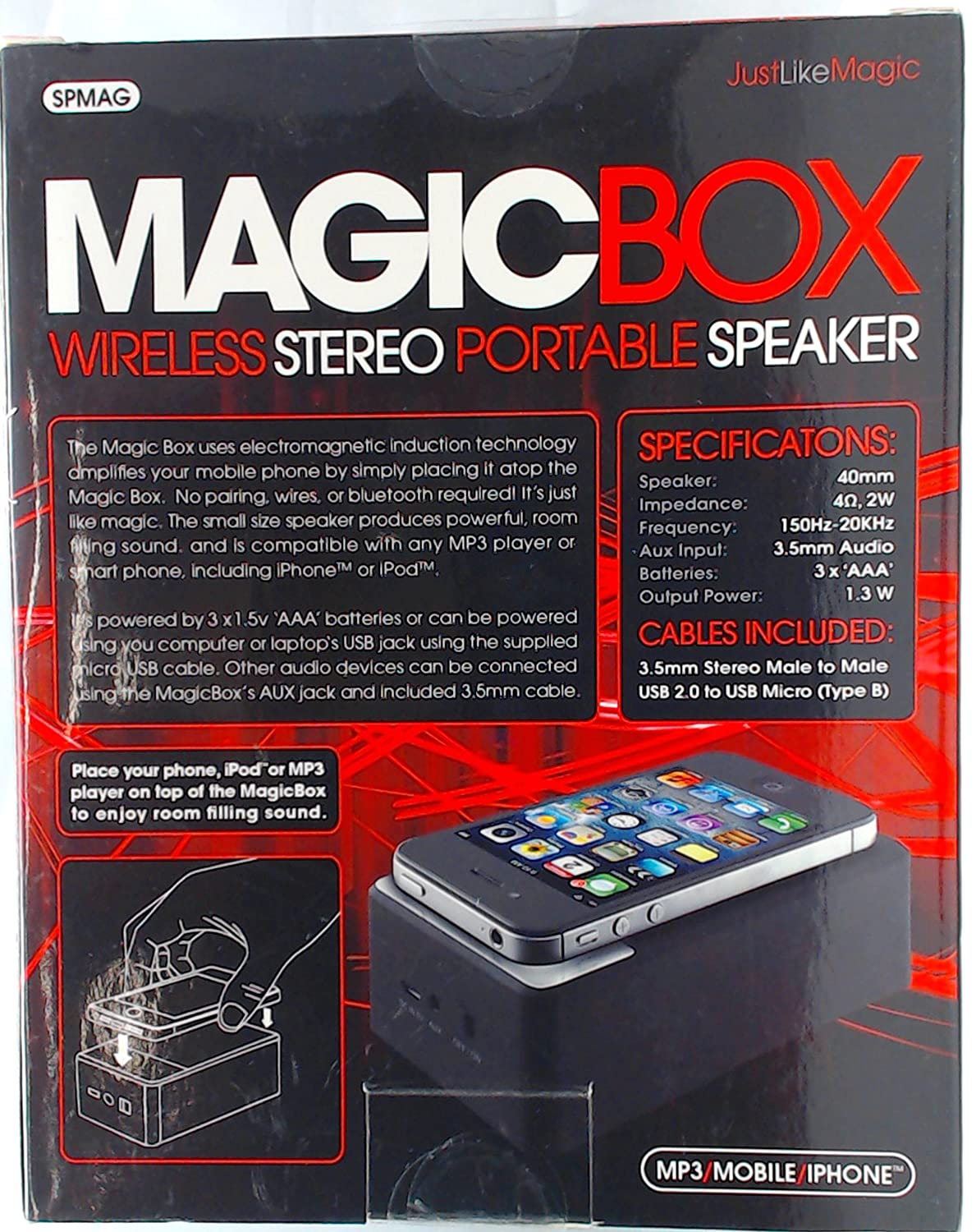 Sentry Industries Inc Magic Box Wireless Stereo Wiring Outdoor Speakers To Portable Speaker Cell Phones Accessories