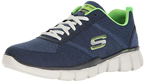 Skechers Sport Men's Equalizer 2.0 True Balance Sneaker,Navy/Lime,6.5 4E US