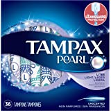 Pearl  plastic, Lites / Light Absorbency, Unscented Tampons, 36 Count