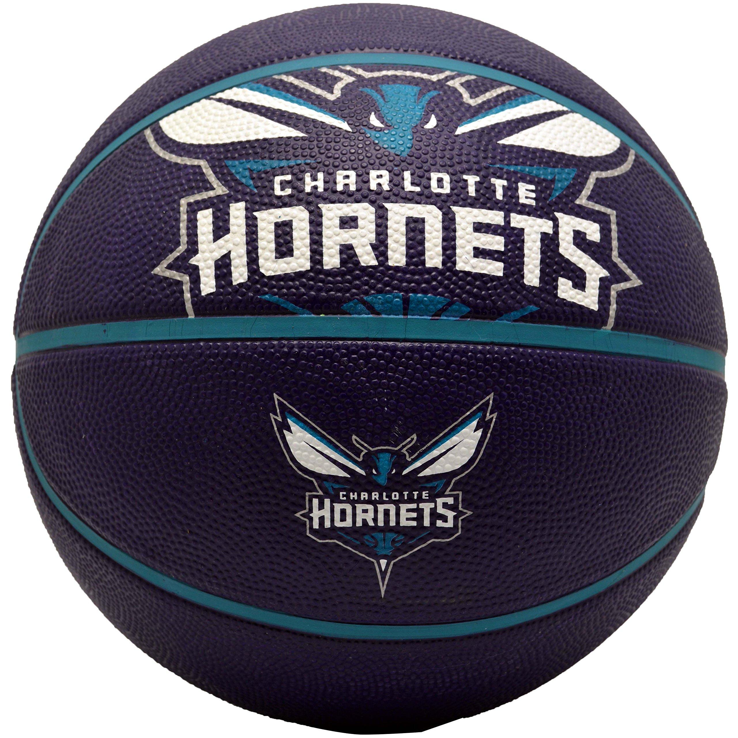 Spalding Charlotte Hornets Rubber Basketball by Spalding