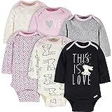 Gerber Baby Girls' 6-Pack Long-Sleeve Onesies Bodysuit
