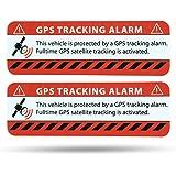 Adesivo allarme GPS per auto, adesivo segnaletico in qualità premium, 75 x 25 mm, per automobili e camion, applicazione interna