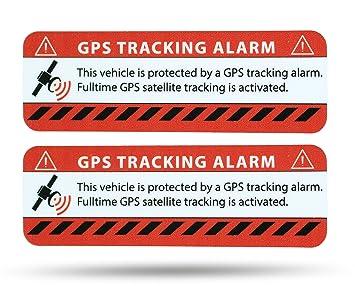 Etiqueta de alarma GPS. Netbote2. Pegatinas de advertencia en calidad premium. 75 mm x 25 mm, para coches y vehículos de carga, con pegamento