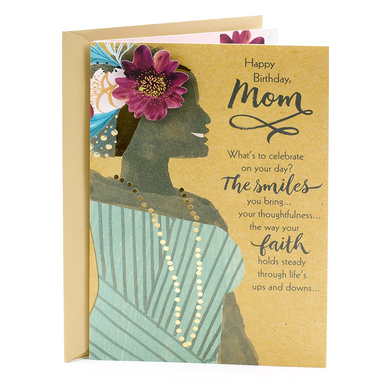 Amazon Hallmark Mahogany Religious Birthday Greeting Card For Mom Woman With Flower Office Products