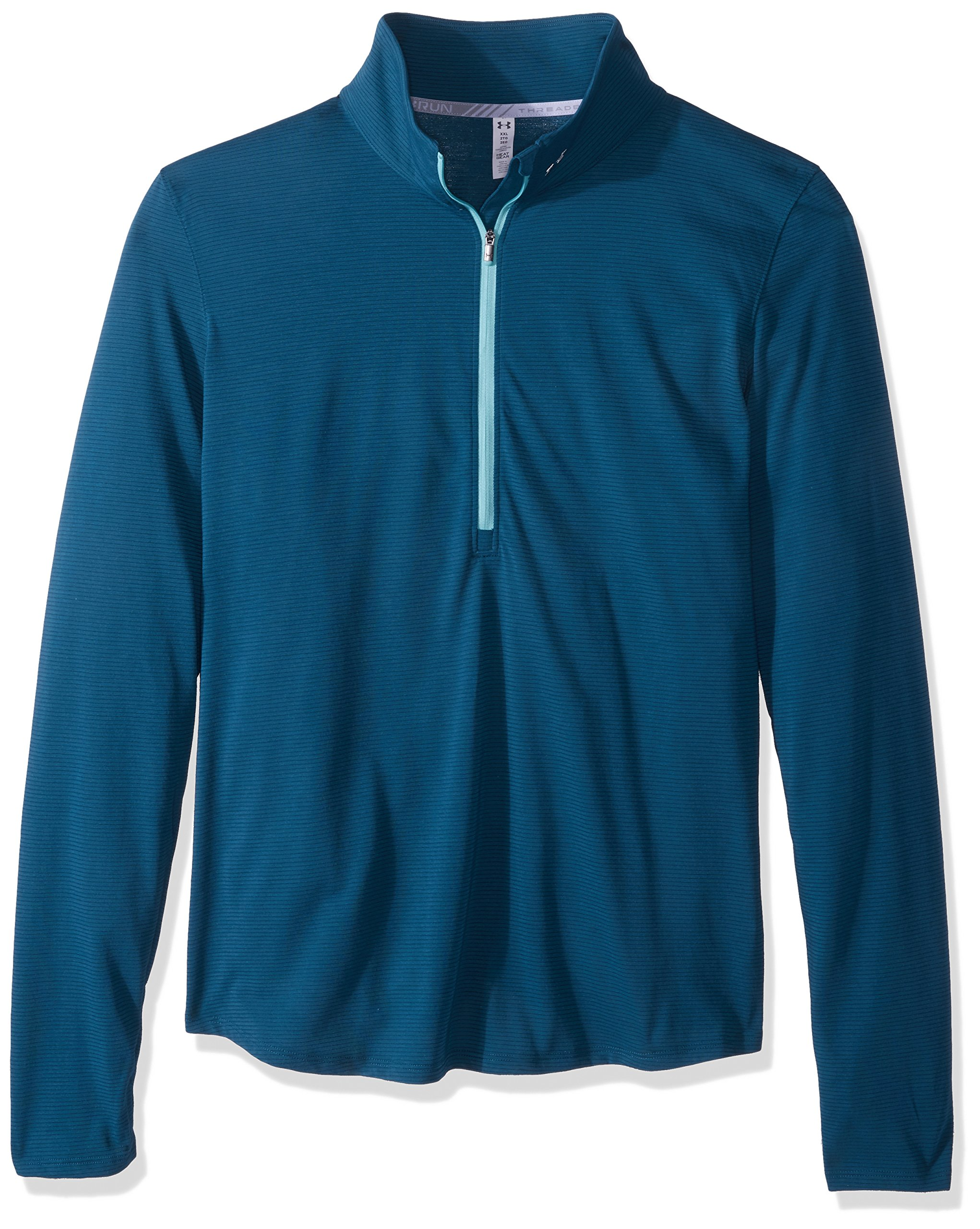 Under Armour Women's Streaker 1/2 Zip Top, Tourmaline Teal /Reflective, X-Large by Under Armour