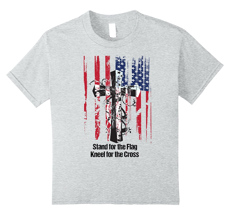 Stand Flag Kneel Cross T Shirt-Awarplus