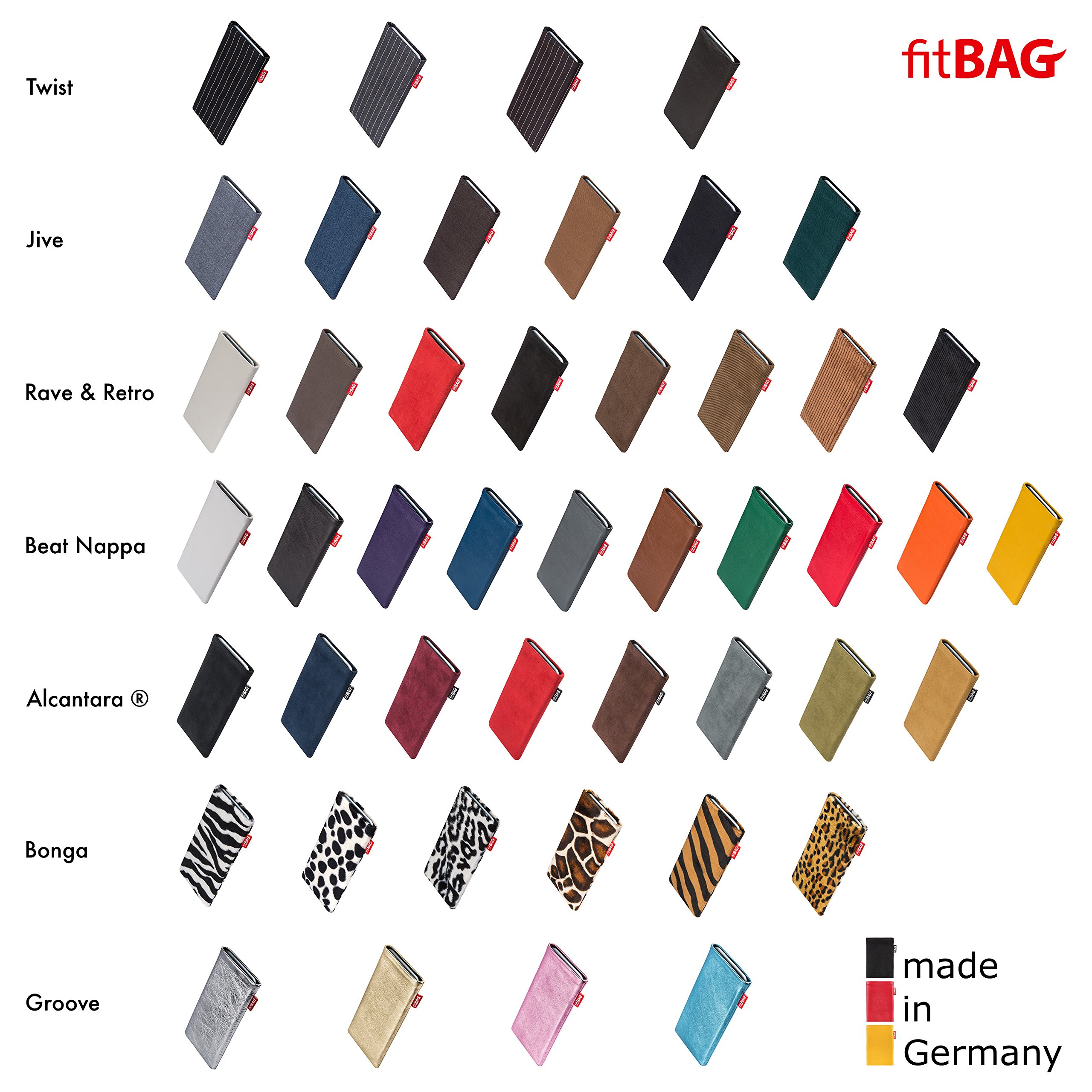 fitBAG Beat Black custom tailored sleeve for Apple iPhone X. Fine nappa leather pouch with integrated microfibre lining for display cleaning by fitBAG (Image #6)