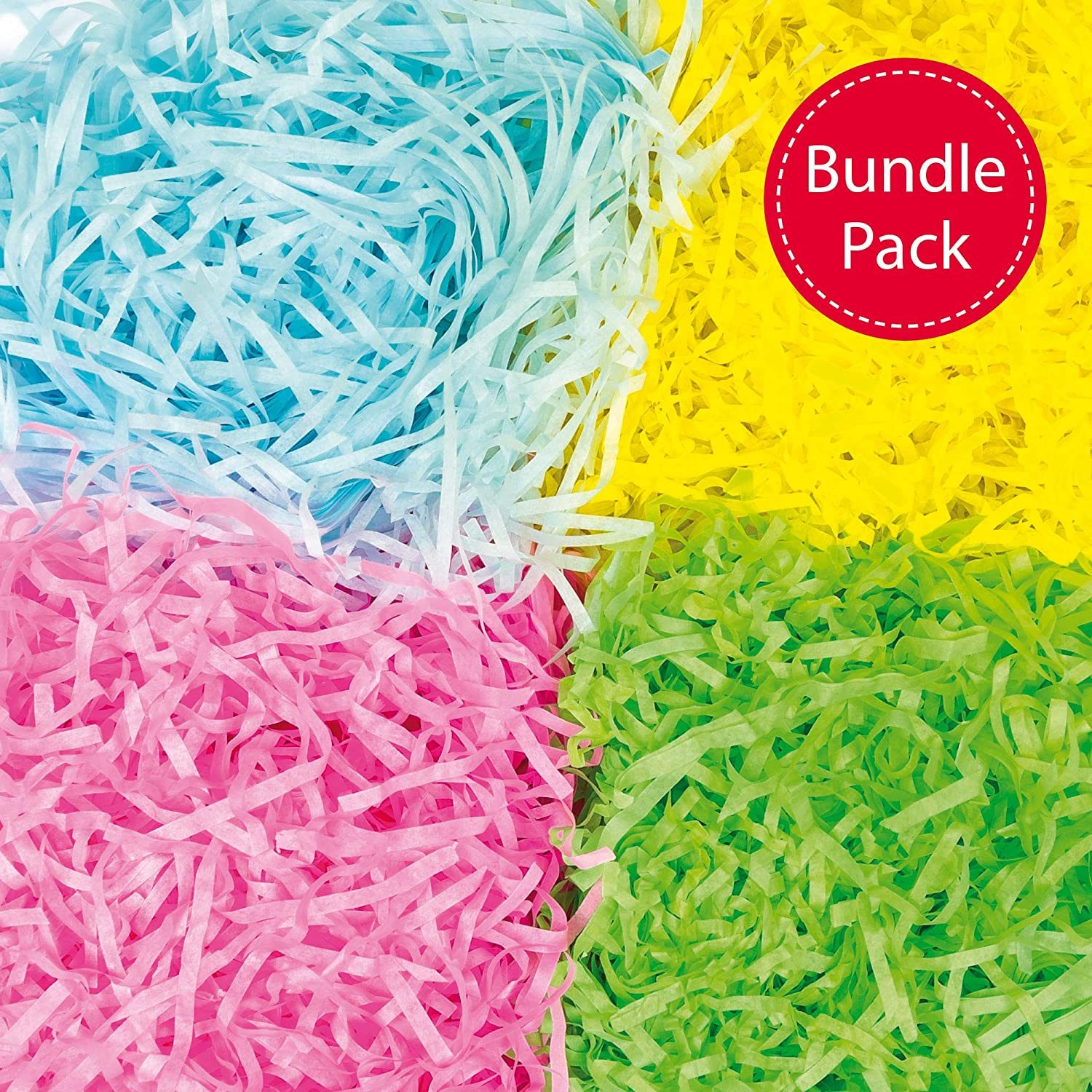 Craft Shredded Tissue in Spring Colours for Easter Arts and Crafts Per pack