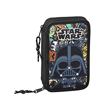 Star Wars Galaxy Oficial Estuche Escolar Incluye 28 Útiles, 125x40x195 mm