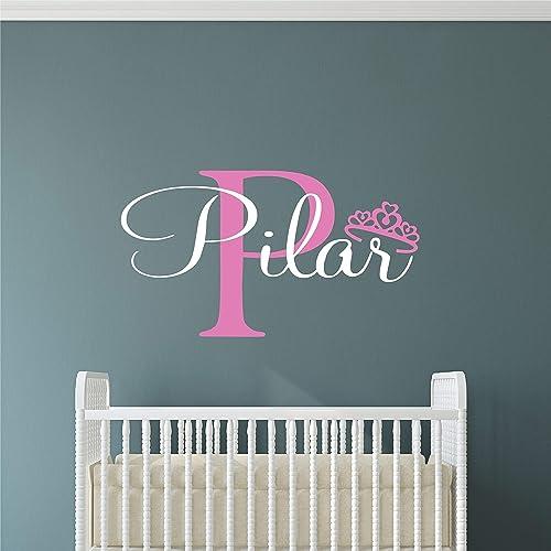 Nursery Décor Home & Garden Custom Personalised Princess Name Wall Stickers Vinyl Decals Nursery Kids Decor