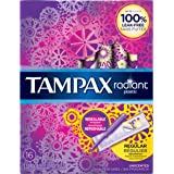 Tampax Radiant Plastic Tampons,  Regular Absorbency, 16 Count