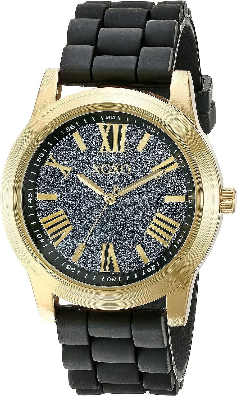 XOXO Women's XO8085 Analog Display Analog Quartz Black Watch