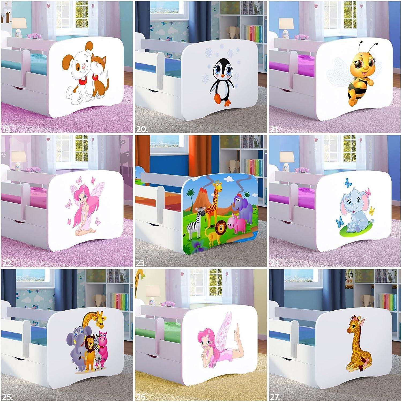 /de Nombreux th/èmes et Couleurs Disponibles 140x70 Wonderhome24 pour Enfant Fille Lit Enfant Lit pour Princess/ Green