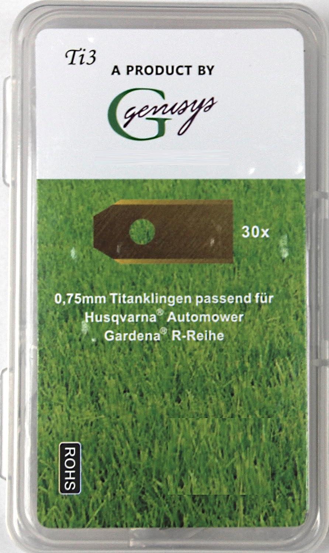 30 x Titan Cuchilla de repuesto Cuchillas para Husqvarna Automower ...