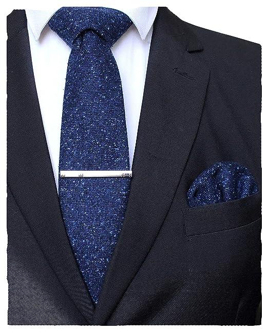 RBOCOTT juego de corbata de lana de color sólido y bolsillo ...