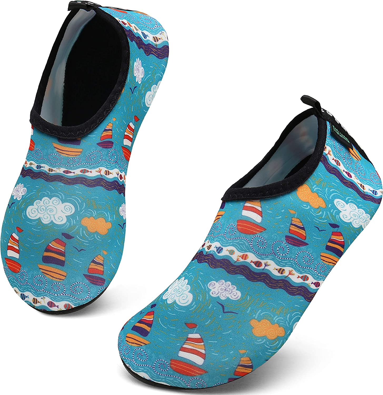 SAGUARO Badeschuhe Strandschuhe Schwimmschuhe Unisex Kinder