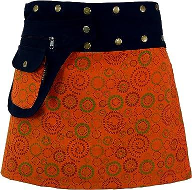 GURU-SHOP, Falda Envolvente, Cacheur, Falda Corta, Falda Reversible, Multicolor, Algodón, Tamaño:One Size, Faldas Cortas: Amazon.es: Ropa y accesorios